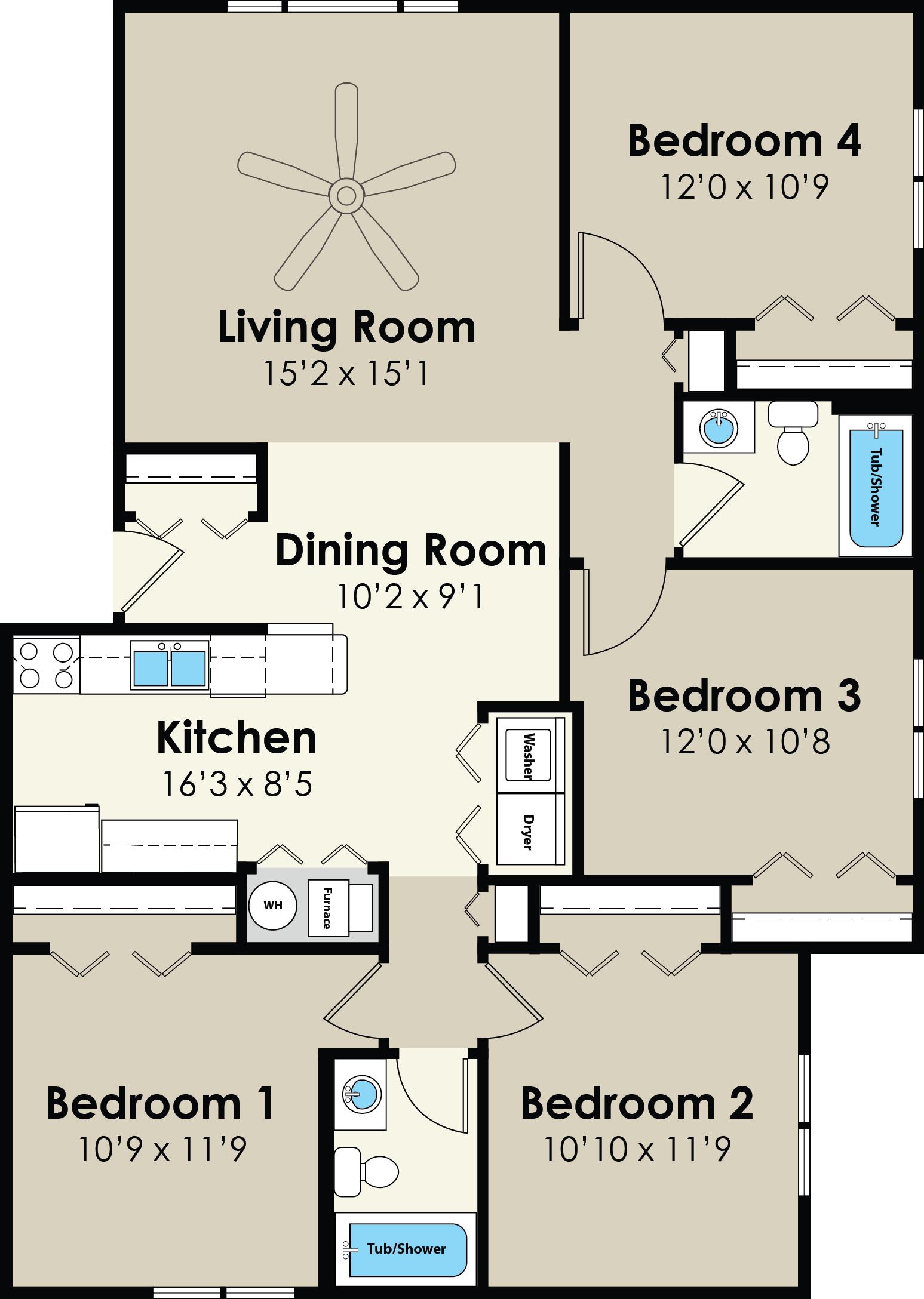 4517-4525 Floor Plan